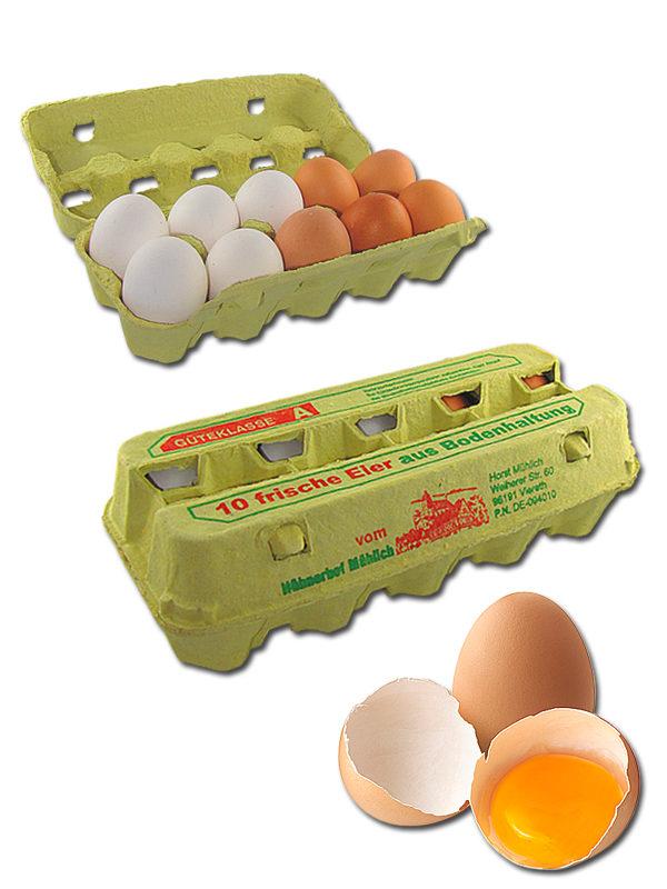Frische Eier aus Bodenhaltung XL
